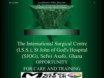The International Surgical Centre (I.S.S.), St John ... - MOTEC LIFE-UK