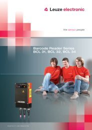Barcode Reader Series BCL 31, BCL 32, BCL 34 - Leuze electronic
