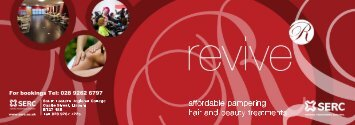 Hair and Beauty - Revive Salon - Price List