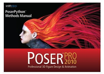 PoserPython™ Methods Manual - Smith Micro Software, Inc.
