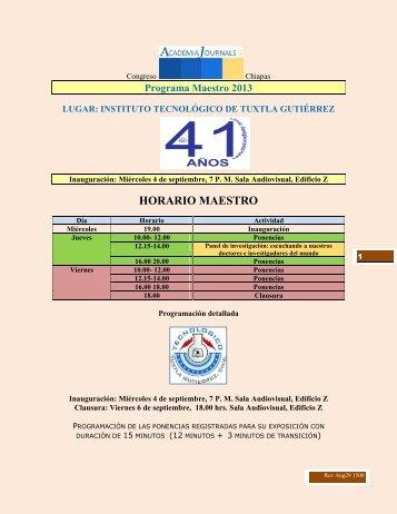 HORARIO MAESTRO