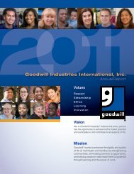 2011 Annual Report - Goodwill Industries International