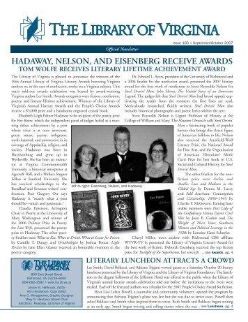 Newsletter 158 - Library of Virginia