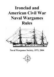 NWS Ironclad and American Civil War Naval Wargames Rules
