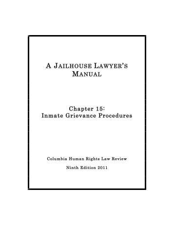 Inmate Grievance Procedures - Columbia Law School