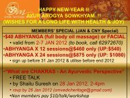 (full body oil massage) or FACIAL • valid from 2-7 JAN 2012