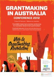 Grantmaking in Australia Conference - Our Community