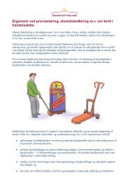 Ergonomi ved proviantering, storeshåndtering m.v. ... - Søfartsstyrelsen