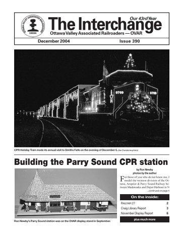 December - Ottawa Valley Associated Railroaders