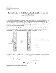 Determination of the Diffusion Coefficient for Sucrose in Aqueous ...