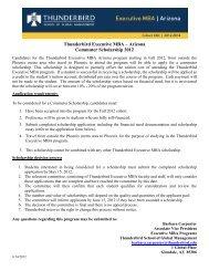 Commuter Scholarships 2012 - Thunderbird School of Global ...