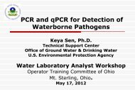 Waterborne Pathogens Detection by QPCR - Ohiowater.org