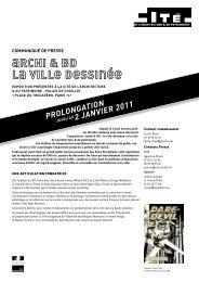 PROLONGATION 2 jANvIeR 2011 - Cité de l'architecture & du ...