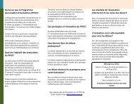 Qu'est-ce que le Programme pancanadien d'évaluation (PPCE ...