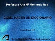 cómo hacer un diccionario - ULPGC - Universidad de Las Palmas ...
