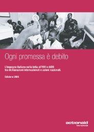 Ogni Promessa è debito - Edizione 2006 - ActionAid