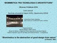 Presentazione sulla bio-ispirazione - Facoltà di Architettura Luigi ...
