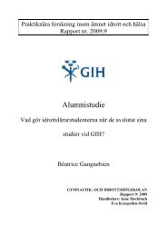 Rapport 9: 2009 - GIH