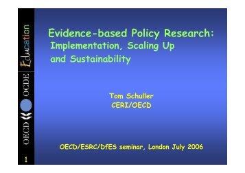 Tom Schuller (OECD)