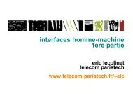 Introduction, Styles d'interaction, Conception logicielle, Outils, Fitts ...