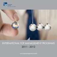 international top management programs 2011 - 2012 - IE Executive ...