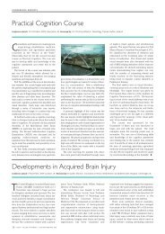 Practical Cognition Course Developments in Acquired Brain ... - ACNR