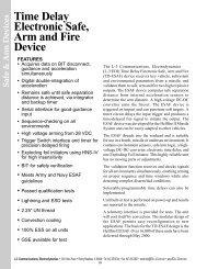 Safe & Arm Devices - L-3 Communications
