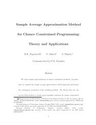 Sample Average Approximation Method for Chance Constrained ...