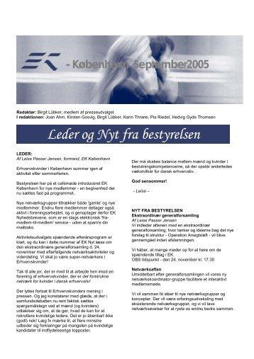 EK Nyt September 2005.pdf - Foreningen af Erhvervskvinder