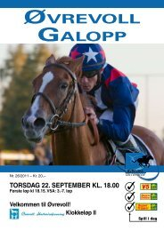 Program 22 september_komplett.pdf - Øvrevoll Galoppbane