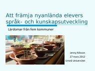 Föreläsning stödmaterialet - Umeå universitet