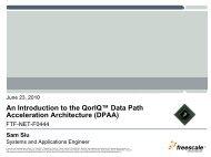 Introduction to QorIQ Data Path Acceleration Architecture - Freescale