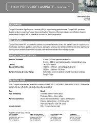 HIGH PRESSURE LAMINATE – DUROPAL - Tekform