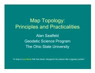 Map Topology: Principles and Practicalities - The Ohio State University