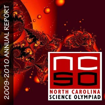 2010 Annual Report - North Carolina Science Olympiad