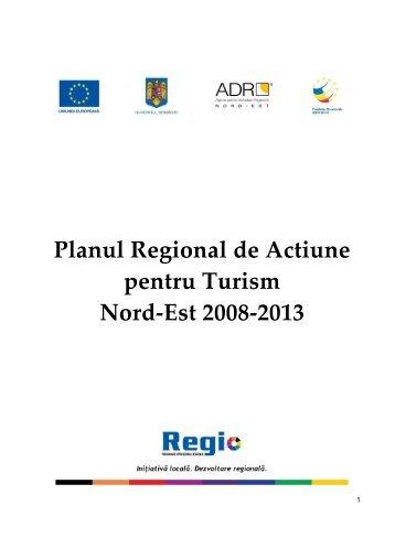 Planul Regional de Actiune pentru Turism Nord-Est 2008-2013