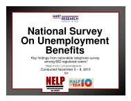 National Survey On Unemployment Benefits