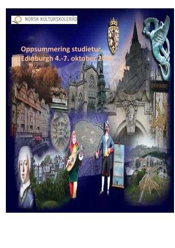 Oppsummering studietur Edinburgh 4.-7. oktober 2010