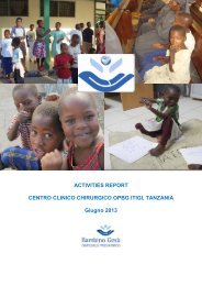 ACTIVITIES REPORT CENTRO CLINICO CHIRURGICO OPBG ITIGI ...