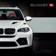 The customization programme for your BMW X5 - Mansory