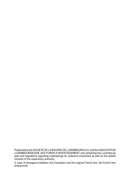 law of 20 December 2002 - Alfi