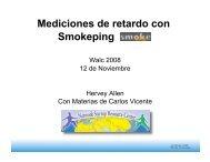 Mediciones de retardo con Smokeping
