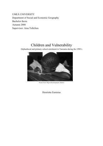 Children and Vulnerability