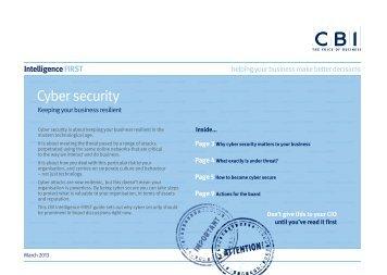 Cyber security - CBI