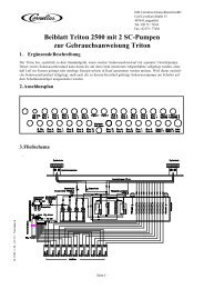 Beiblatt Triton 2500 mit 2 SC-Pumpen zur ... - IMI Cornelius