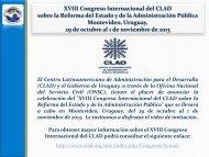 XVIII Congreso Internacional del CLAD sobre Reforma de Estado y ...