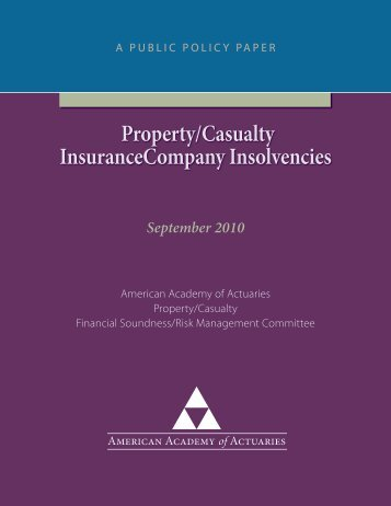 Property/Casualty InsuranceCompany Insolvencies