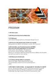Download program for Design day 2009 (PDF 130KB)