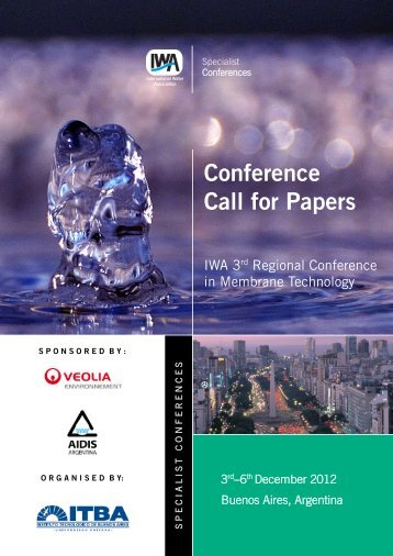 Conference Call for Papers - IWA