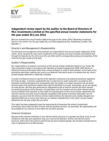 12 MLC - IDPS MKIS Audit Report - Investor Statements.docx
